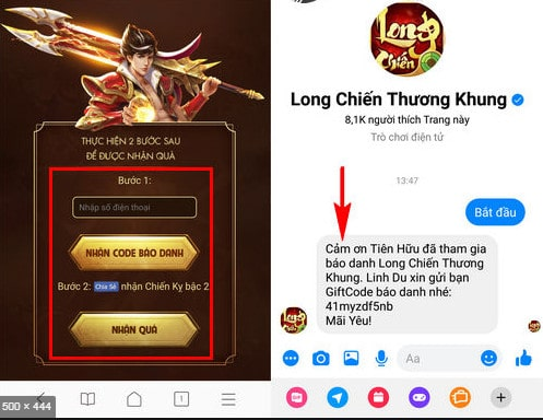 Code long chien thuong khung
